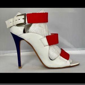Alexander McQueen Tri Strap leather High heels